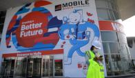 Todo pronto en Barcelona para el Mobile World Congress. Foto: AFP