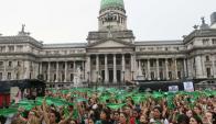 Campaña por la legalización del aborto. Foto: EFE