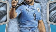 La figurita de Luis Suárez del álbum del Mundial 2018