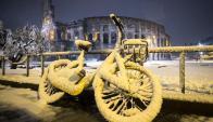 Nieve en Italia. Foto: EFE