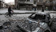 Guta, asediada por las bombas. Foto: AFP