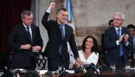 """Macri. """"Venimos a luchar contra la pobreza y que ningún argentino pase hambre"""", aseguró. Foto: La Nación / GDA"""