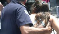 Joven secuestrada llegó a la Fiscalía de Rosario. Foto: Prensa Rosarina.