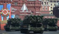Los desfiles con gran despliegue bélico fueron una postal en los tiempos de la URSS, ahora volvieron con Putin, que va por la reelección el 18 de marzo.
