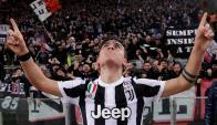 Paulo Dybala festejando el gol de la Juventus. Foto: Reuters