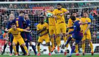 El gol 600 de Lionel Messi. Foto: EFE