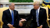 Casa Blanca: Trump y Netanyahu durante la reunión de ayer. Foto: Reuters