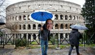 Roma: sátira a Silvio Berlusconi en el Coliseo. Foto: Reuters
