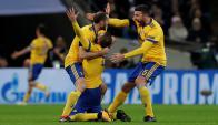 Juventus festejando el gol de Dybala. Foto: Reuters