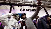 Samsung. La empresa coreana se lució con inteligencia artificial e IoT. Foto: Reuters.