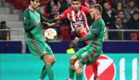Atlético de Madrid vs. Lokomotiv. Foto: Reuters