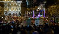 """""""Esto de hoy debe ser un punto de partida para cambiar las cosas"""", dijo en la marcha en Madrid María Ángeles Pina, profesora de 60 años. Foto: AFP"""