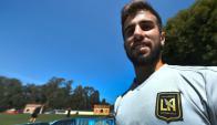 Diego Rossi entrenando en Los Angeles FC. Foto: AFP