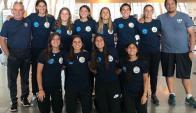 Selección uruguaya de beach handball femenino.