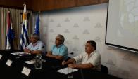 Enzo Benech en conferencia de prensa. Foto: Twitter @MGAPUruguay