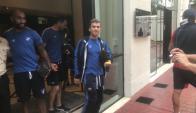 Los jugadores de Nacional en el Hotel Tryp Higienopolis. Foto: Juan Pablo Romero
