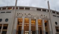 El reconocimiento de Nacional al estadio Pacaembú. Foto: Juan Pablo Romero