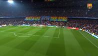 El recibimiento al Barcelona en el Camp Nou