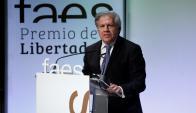 El excanciller uruguayo recibió el VIII Premio FAES de la Libertad en Madrid. Foto: EFE