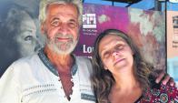 De visita. Adhemar y Ximena Bianchi son uruguayos, pero hace 40 años que trabajan en Argentina