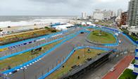 Culminó el armado de la pista y hay un plan de contingencia por eventuales tormentas. Foto: R. Figueredo