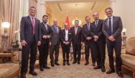 Los cancilleres del Mercosur reunidos en Paraguay. Foto: Twitter @Horacio_Cartes
