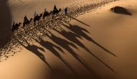 "Carrera ecuestre, ""Gallops of Marruecos"". Foto: AFP"