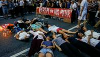 Protestas. Miles de personas se manifestaron ayer en Río, San Pablo y otras ciudades de Brasil por el asesinato. Foto: AFP