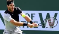 Juan Martín del Potro en la final de Indian Wells. Foto: AFP