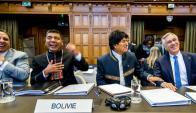 El presidente Evo Morales fue a La Haya a presentar el alegado de su país. Foto: AFP