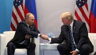 Putin y Trump se encontraron en el G20 de Alemania hace un año. Foto: EFE