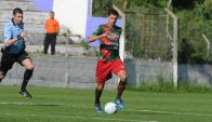 Diego Scotti en el partido de Boston River. Foto: Francisco Flores