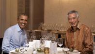 Obama en Vietnam. Foto: AFP