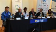 La conferencia de prensa de Uruguay por la Copa Davis. Foto: Ariel Colmegna
