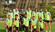 El equipo de Suárez y Cavani ganó el cotejo de fútbol informal