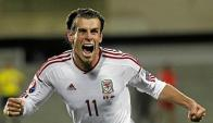 Gareth Bale le convirtió un gol a China a los 3 minutos de juego