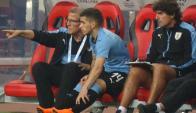Lucas Torreira y su debut en la selección mayor de Uruguay. Foto: @Uruguay.