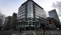 Sede de la consultora británica Cambridge Analytica en Londres. Foto: EFE