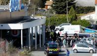 """El atacante ingresó al supermercado al grito de """"Alí es el más grande"""". Foto: Reuters"""