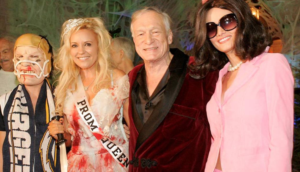 Las fiestas de Halloween también eran famosas en la mansión Playboy. Foto: AP