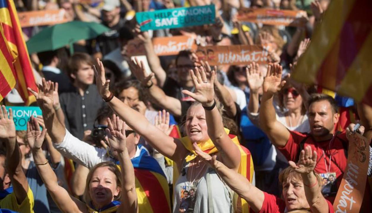 Cataluña celebra la independencia. Foto: EFE