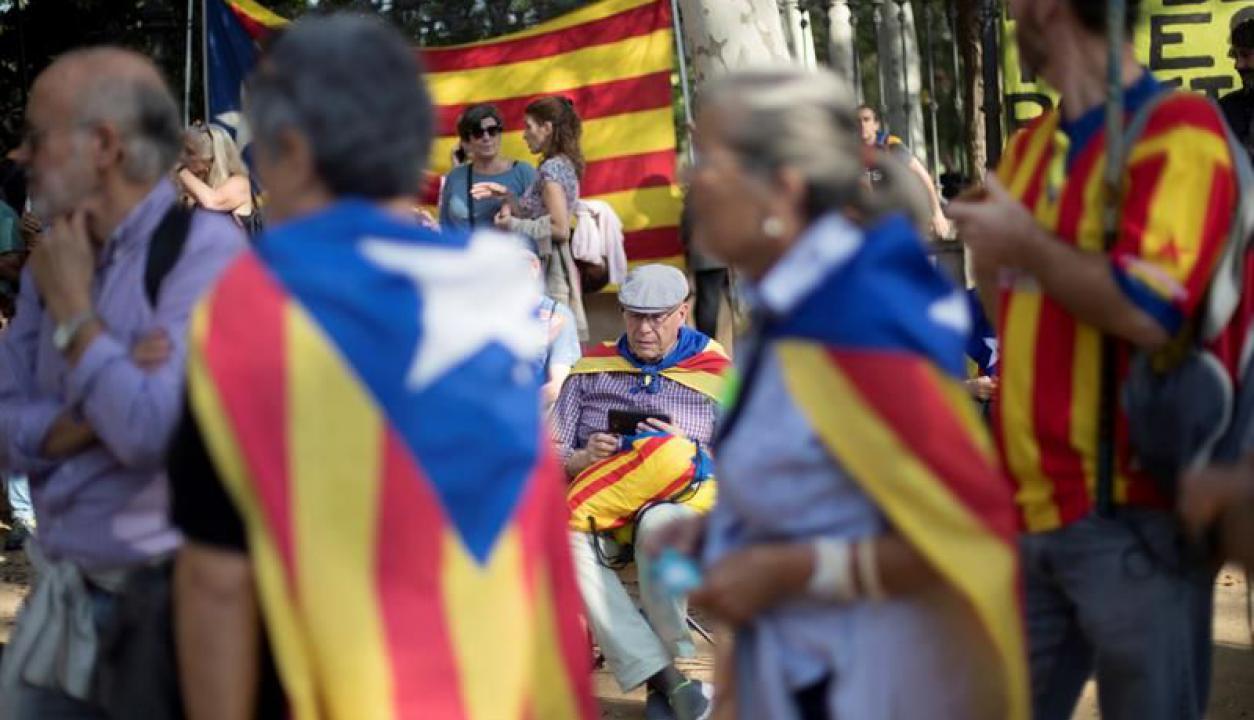 Cataluña votó sí a la independencia. Foto: EFE