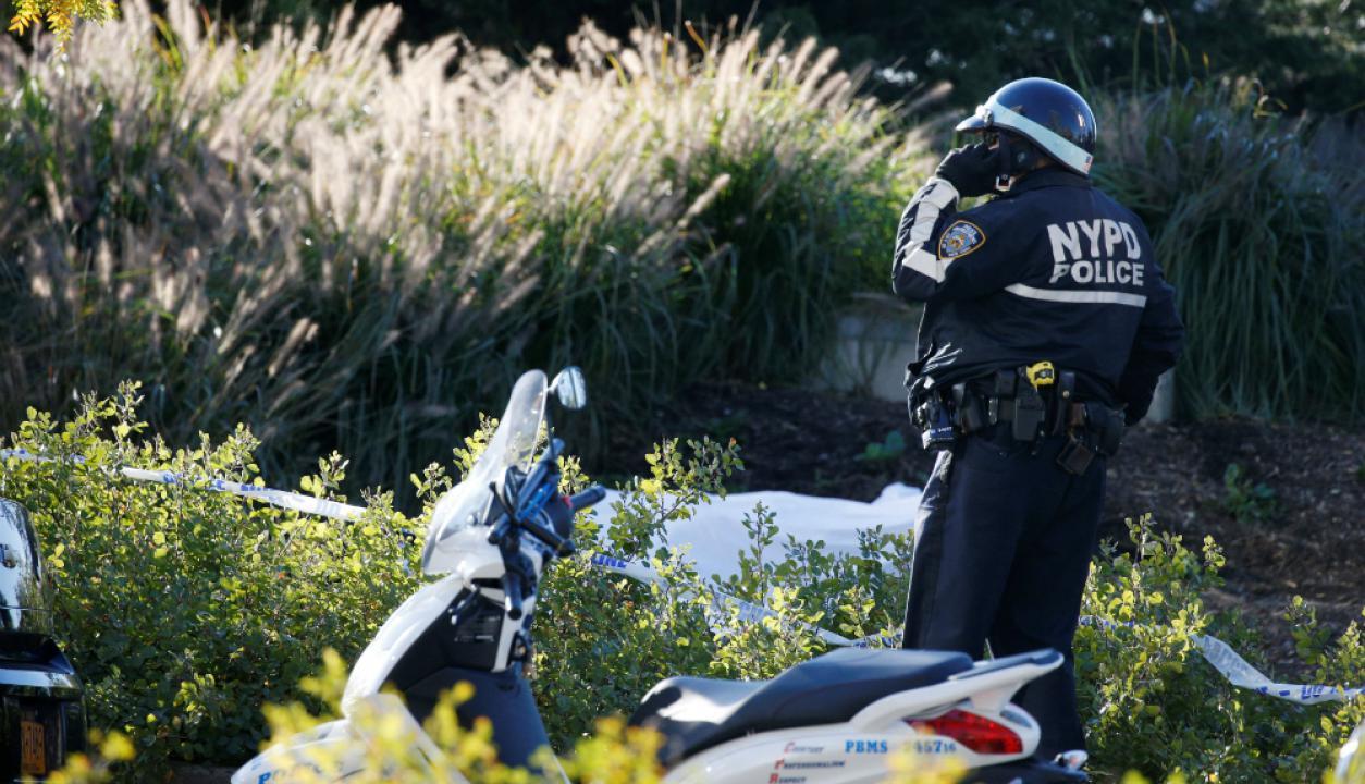 La Policía despliega efectivos tras el múltiple atropellamiento en Manhatttan. Foto: Reuters