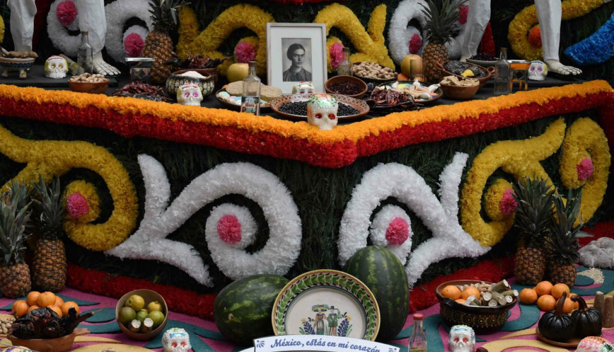 Frida Khalo fue una de las figuras más presentes en las celebraciones. Foto: AFP
