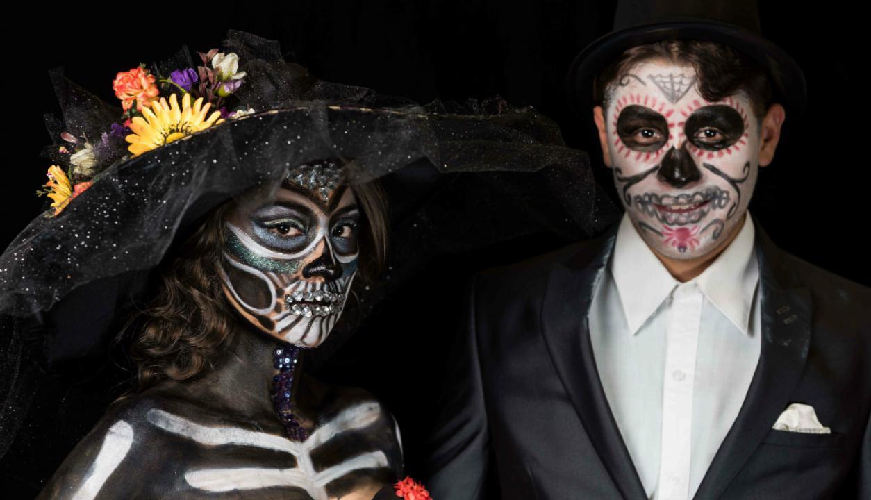 México celebra el Día de los Muertos. Foto: AFP