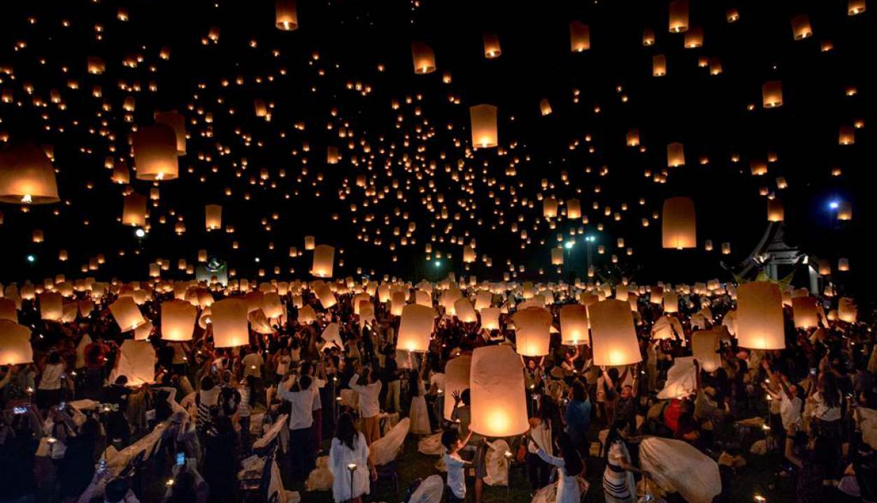 Festival Yee Peng en Thailandia. Foto: AFP