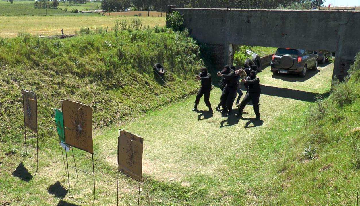 Entrenamiento de la Unidad de Protección Especial de la Policía Nacional. Foto: Captura Unicom.