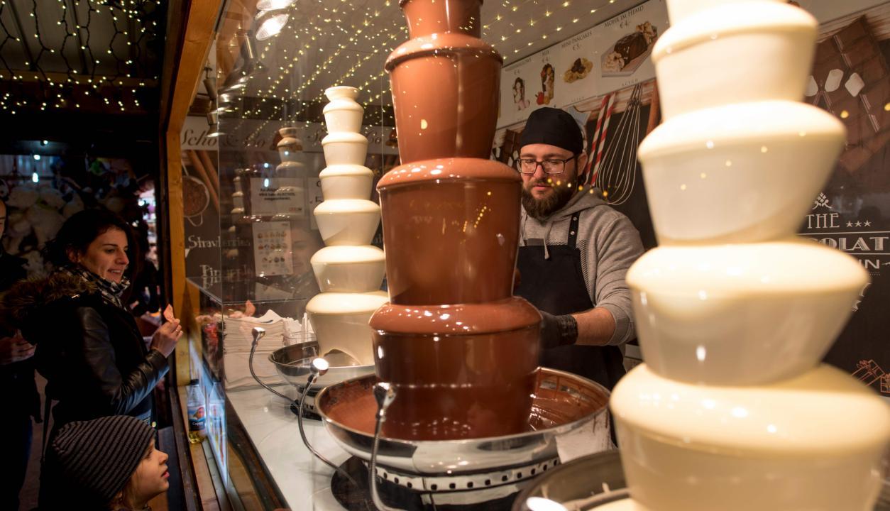 Chocolate en Vienna's City Hall