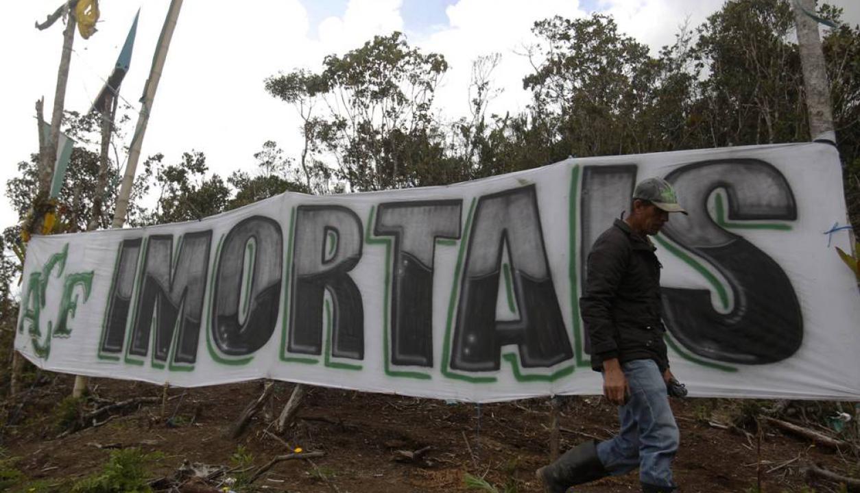 El lugar del accidente de Chapecoense con homenajes un año después de la tragedia. Foto: EFE