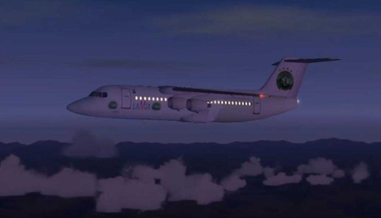 Avión Lamia de Chapecoense